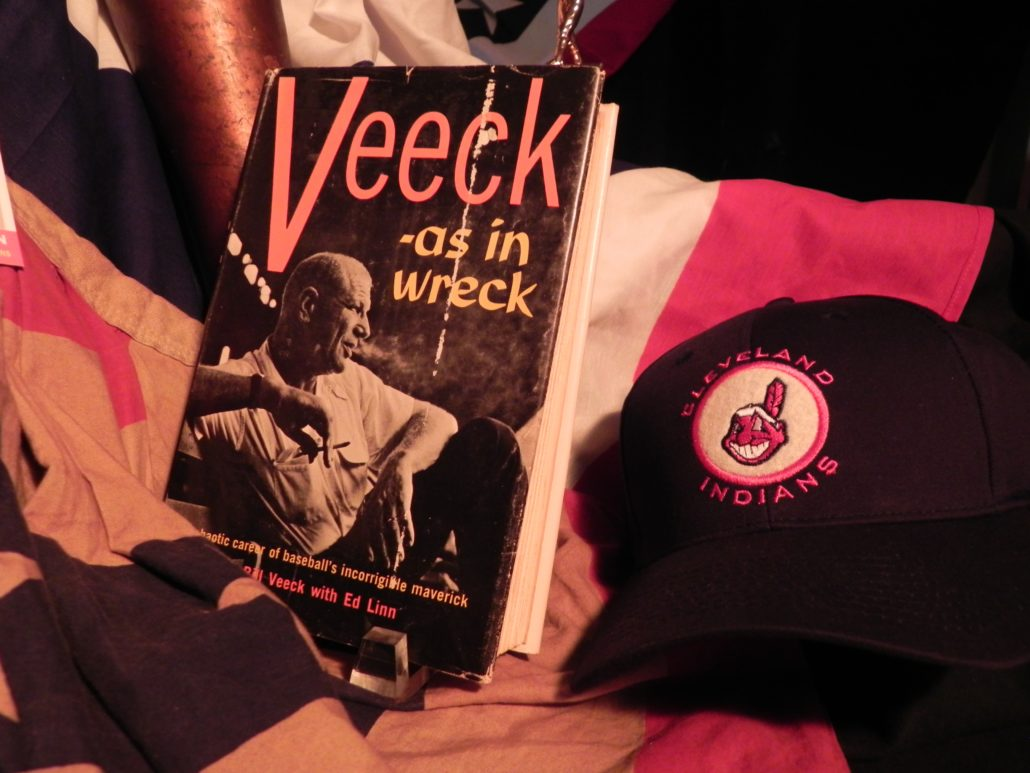 Veek book with Indians cap