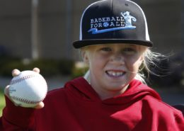 7 year old ball player Colbie Wolf
