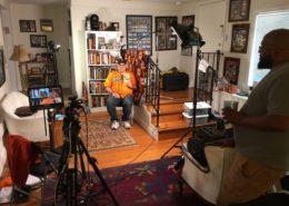 Shoot setup- for San Francisco Giants superfan Charles Fracchia